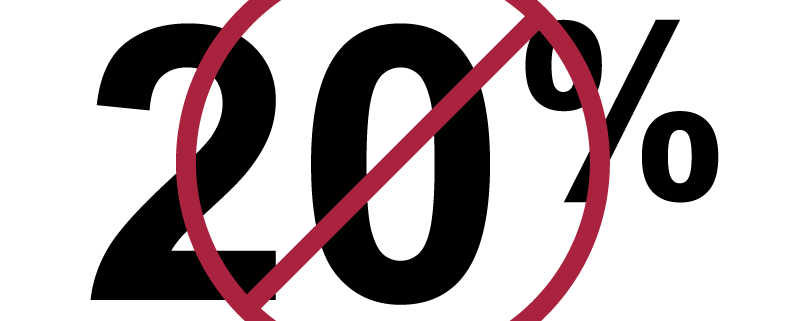 You don't have to put 20% down on your home.